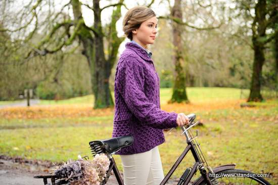 Purple Aran Sweater