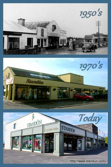 Collage of a store front changing over time