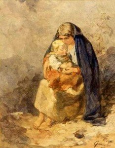 The_Irish_Mother_by_Alfred_Downing_Fripp