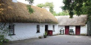 Traditional Irish cottage and farm buildings