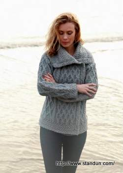 Women's Aran Cardigan - from Standun, Galway