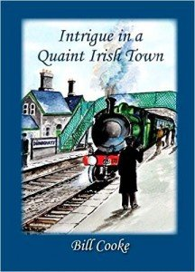 Vintage steam train on book cover