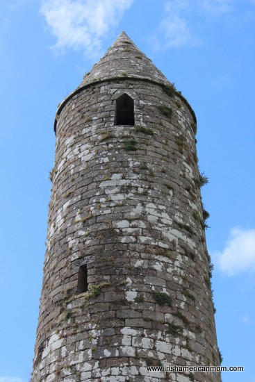 Top half of an Irish round Tower