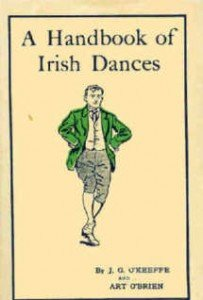 Book cover from 1934 for a Handbook of Irish Dances