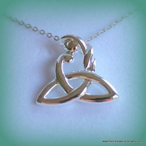 A mother and child Trinity knot necklace