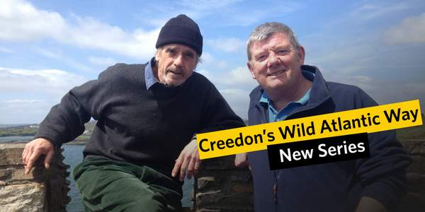 Jeremy Irons actor with John Creedon