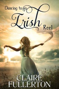 Book cover with girl waving for Dancing to an Irish Reel