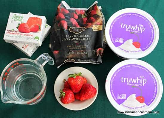 Ingredients for Strawberry Coolwhip dessert