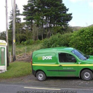 Green mail van in Ireland