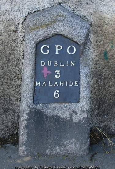 Old Postal Milestone in Dublin