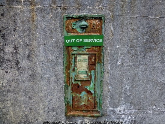 Out of Service - Old Irish Post Box