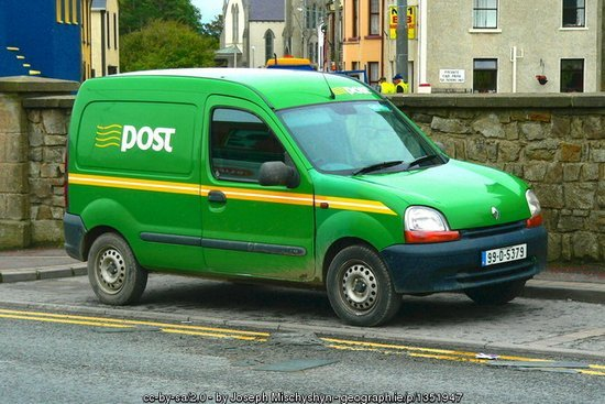 Post Office Van In Bundoran, County Donegal