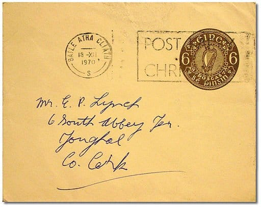 Stamped Letter to Youghal County Cork