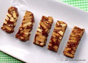 Slices of Irish style chocolate biscuit cake