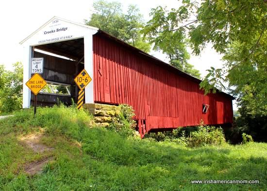 Crooks Bridge, Red Covered Bridge in USA