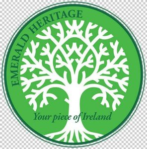 Emerald Heritage logo with a tree with roots