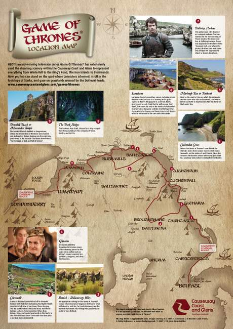Game of Thrones Filming Map