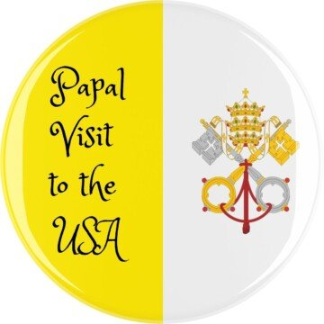 Papal symbol beside text