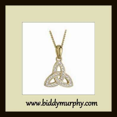 Gold Plated Trinity Knot Necklace