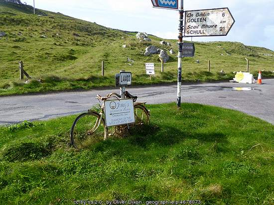 Old Bicycle Sign on the Wild Atlantic Way