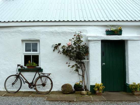 Old Irish Bicycle By The Cottage Window in County Donegal