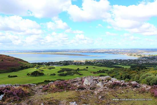Looking over Howth golf course from the Hill of Howth
