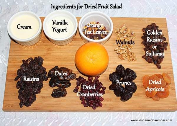 Ingredients for Dried Fruit Salad