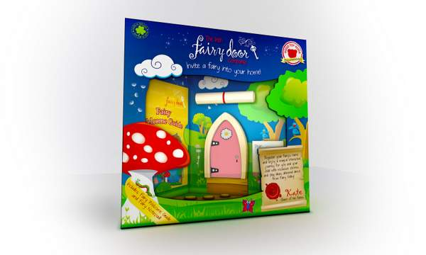 Irish Fairy Door - Pink Arched 2
