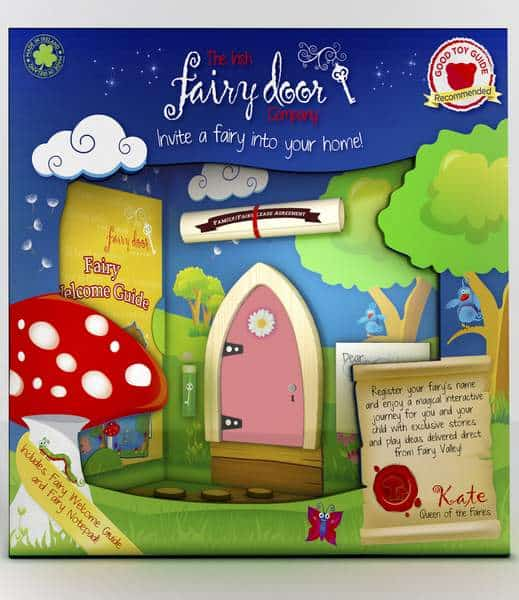 Irish Fairy Door - Pink Arched
