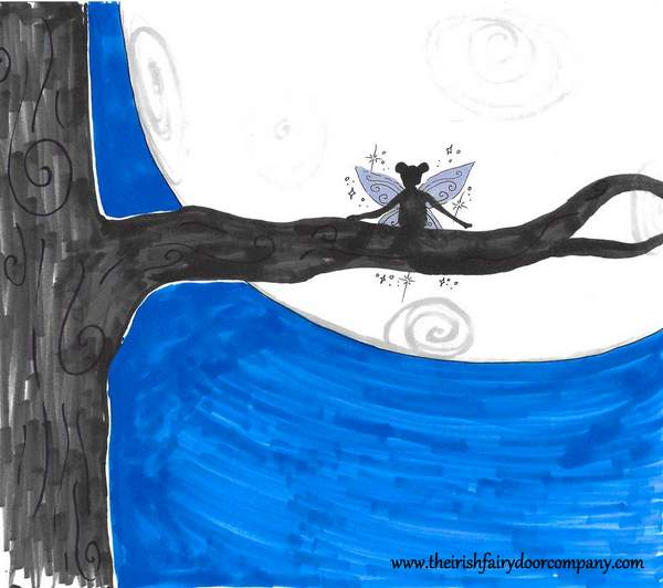 Irish Fairy In A Tree-001