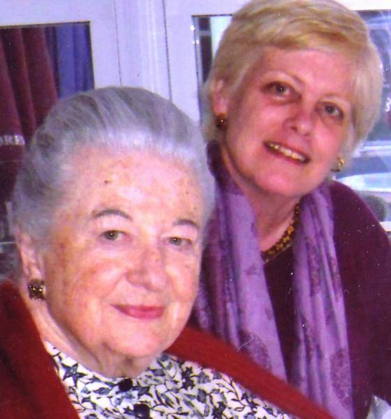 Sheila Cronin and her mother