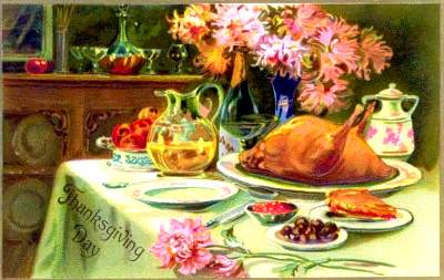 Thanksgiving feast - Vintage Image