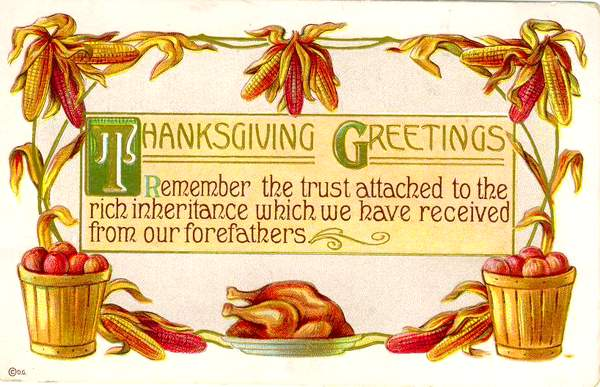 Text on a graphic featuring a cooked turkey on a platter