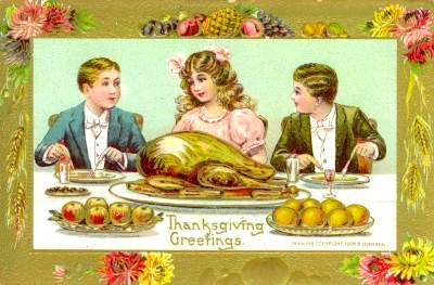 Vintage Thanksgiving Dinner