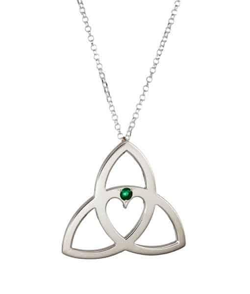 Celtic Heart Trinity Knot Pendant