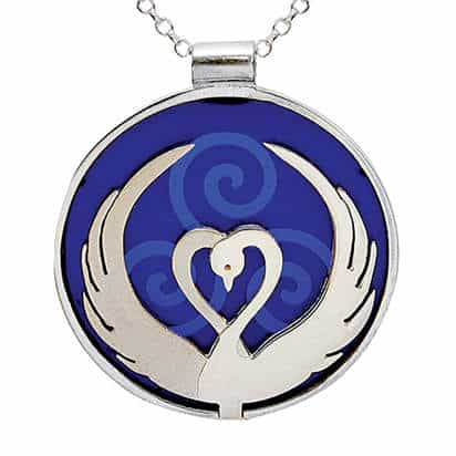 Children of Lir Blue Pendant by Tracy Gilbert