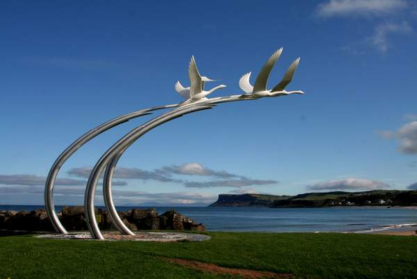 Children of Lir Sculpture in Ballycastle