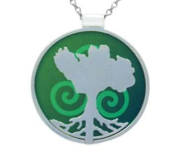 Growing Home Green Pendant by Tracy Gilbert