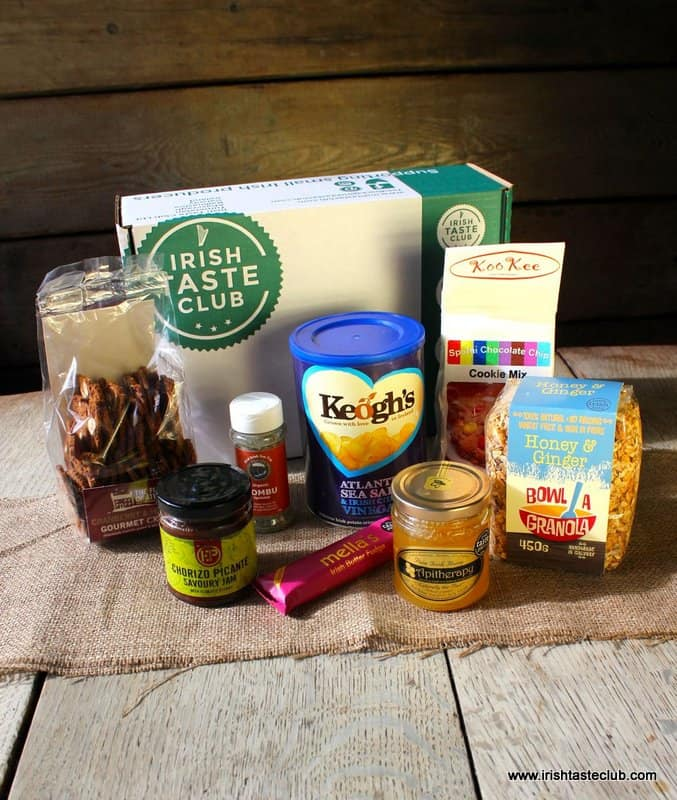 Savory Irish foods in a mail order gift box