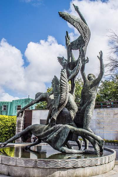 Sculpture of the Children of Lir in the Garden of Remembrance, Dublin