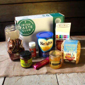 Irish food packages with a box