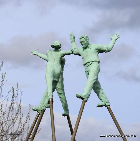 Children on Stilts Sculpture in Monaghan