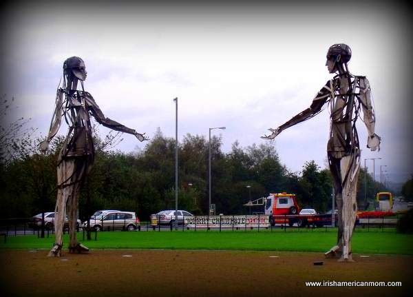 Dancers at the Roundabout in Strabane