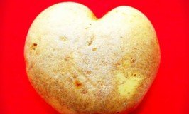 Irish potato shaped like a heart