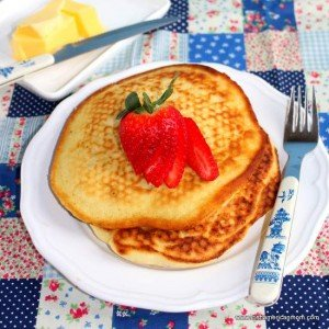 Irish pancakes on a white plate