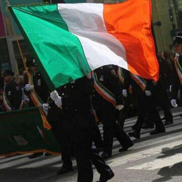 Irish flag at the New York Saint Patrick's parade