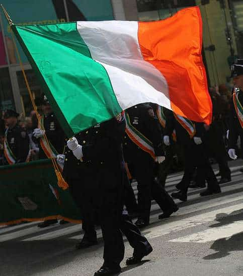 Irish Flag at the NYC St. Patrick's Day Parade 2015