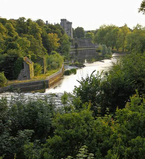 Kilkenny Castle as seen from the banks of the River Nore