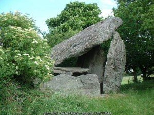 A portal tomb in County Kilkenny