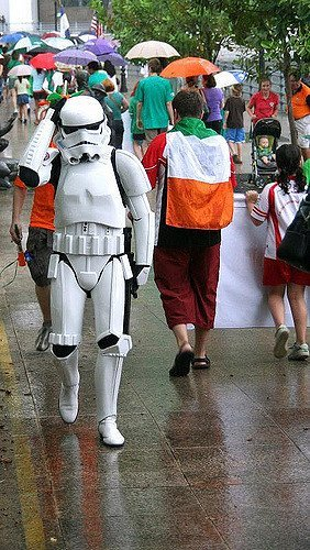 A lost trooper at the Singapore St. Patrick's Day Parade 2009